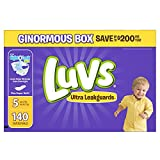 Luvs Ultra Leakguards Disposable Baby Diapers Size 5, 140 Count