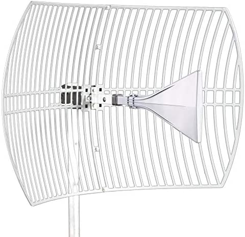 Ultra Wide-Band Cellular Antenna (Long Range) High Gain Parabolic Grid (Weatherproof) Outdoor Cell Phone Booster (26 dBi Gain) T-Mobile, Verizon, AT&T, LTE, 3G, 4G, 5G, 5Ge, GSM