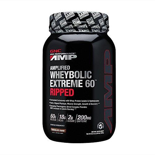GNC Pro Performance AMP Amplified Wheybolic Extreme 60 Ripped - Chocolate Fudge (45.5 oz or 2.84 lb)