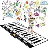 Play22 Keyboard Playmat 71' - 24 Keys Piano Play Mat - Piano Mat has Record, Playback, Demo, Play, Adjustable Vol. - Best Keyboard Piano Gift for Boys & Girls - Original