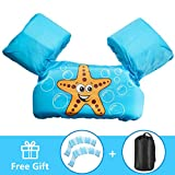 AmazeFan Kids Swim Life Jacket Vest for Swimming Pool, Swim Aid Floats with Kids Webbed Swimming Gloves and Storage Bag, Suitable for 30-50 lbs Infant/Baby/Toddler