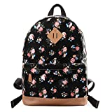 Douguyan Casual Lightweight Print Backpack for Girls and Women School Rucksack