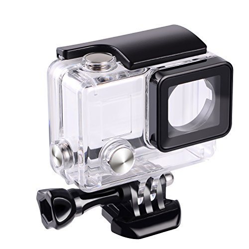 Suptig Replacement Waterproof Case Protective Housing for GoPro Hero 4, Hero 3+, Hero3 Outside Sport Camera For Underwater Use – Water Resistant up to 147ft (45m)