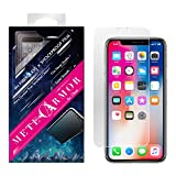 Unbreakable 9H Fiberglass Screen Protector for iPhone X/Xs or XR or Xs Max - Moxbii Metearmor Shockproof Film - Scratch Proof, Smooth Touch, High Definition, Super Thin (iPhone XR)