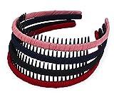 STHUAHE4PC Multicolor Protection Resin Teeth Comb Hair Hoop Hairband Headband Hair Accessories by Beauty hair (4 color)