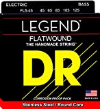 DR Strings Hi-Beam Flats - Flatwound Stainless Steel Round Core 5 String Bass 45-125