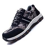 JACKSHIBO Steel Toe Work Shoes for Men Women Safety Shoes Breathable Industrial Construction Shoes Camouflage Black 11.5-12 Women/10-10.5 Men
