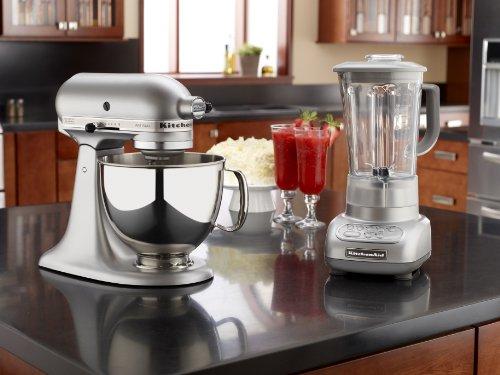 KitchenAid KSM150PSSM Artisan Series 5-Quart Stand Mixer, Silver ...