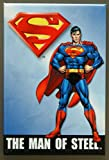 (2x3) Superman The Man of Steel Retro Vintage Locker Refrigerator Magnet