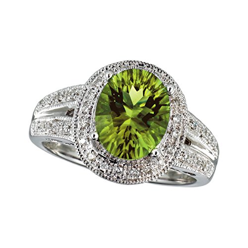 51O%2BtRQMG4L 100% Satisfaction Guaranteed - Return or Exchange Any Item within 30 days Free Standard Shipping on All Items Peridot and White Diamond
