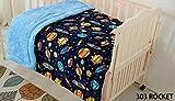 Elegant Home Kids Soft & Warm Solar Space Ships & Rockets Universe Galaxy Stars Sherpa Baby Toddler Boy Blanket Printed Borrego Stroller or Baby Crib or Toddler Bed Blanket Plush Throw 40X50 (Rocket)