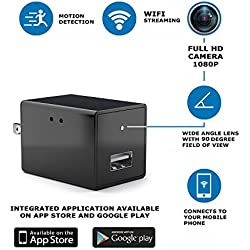 Hidden Camera By Oknas: Spy Nanny Recording System With USB Wall Charger Design – Motion Detection Secret HD Surveillance Camera With Wi-Fi – Mini Security Device For The House & The Office
