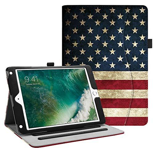 Fintie iPad 9.7 2018 2017 / iPad Air 2 / iPad Air Case - [Corner Protection] Multi-Angle Viewing Folio Cover w/Pocket, Auto Wake/Sleep for Apple iPad 6th / 5th Gen, iPad Air 1/2, US Flag