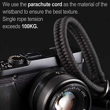 Camera-Wrist-Strap-550-ParacordBlack-Higher-end-and-Safer-Adjustable-Camera-Lanyard-Wrist-Suitable-for-NikonCanonSonyPanasonicFujifilmOlympus-DSLR-or-Mirrorless-Cameras-Hand-Strap