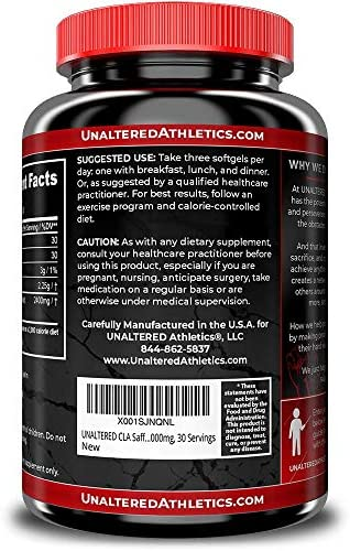 CLA - Belly Fat Pills That Work - Conjugated Linoleic Acid 1000mg Softgels - Slim Stomach & Abdominals - Natural & Keto Diet Friendly Supplement for Men & Women - 30 Servings 9