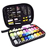 BESTONZONSewing Kit Bundle with Scissors Thread Needles Tape Measure Carrying Case and Accessories for Domestic Travel