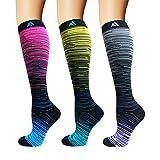 3/5/8 Pairs Compression Socks Women & Men - Best Medical,Nursing,Hiking,Travel & Flight Socks-Running & Fitness (S/M)