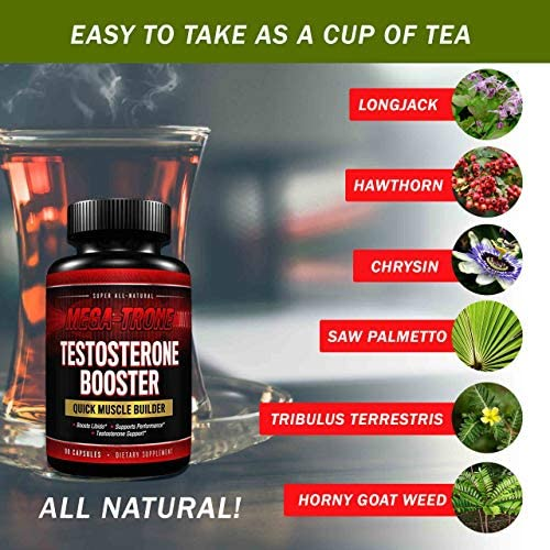 Testosterone Booster for Men with Estrogen Blocker, Tribulus Terrestris, Endurance, Strength booster, Natural stamina, Fat Burning Supplement For Healthy weight loss and build muscle fast-90 caps 7