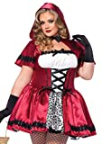 Leg Avenue Women's 2 Piece Gothic Red Riding Hood Plus Size, White, 3X / 4X