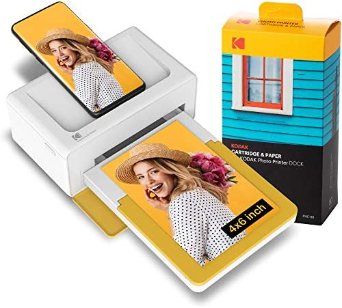 Kodak Dock Plus Instant Photo Printer – Bluetooth Portable Photo Printer Full Color Printing – Mobile App Compatible with iOS and Android – Convenient and Practical – 80 Sheet Bundle
