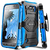Galaxy S6 Active Case, Evocel [New Generation] Dual Layer Rugged Holster Case with Kickstand & Belt Clip for Samsung Galaxy S6 Active SM-G890 (Does NOT fit Regular S6 - S6 Active only), Blue