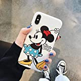 Maxlight Mickey Minnie Mouse Case for iPhone 8 X 7 Plus XR XS MAX Lovely Back Cover Case for iPhone 7 Cute Soft TPU Shell (Style1, for iPhone 7plus 8plus)