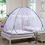 Tailbox Portable Mosquito Net - Sleep Screen Pop-Up Mosquito Net Bed Guard Tent Folding Attached Bottom with Zipper for Babies Adult Travel Camping (180cm x 200cm)
