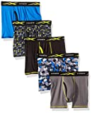 Hanes Boys' Active Cool X-Temp Boxer Brief 5-Pack, Assorted, Medium