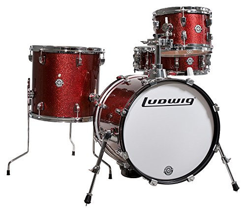 Ludwig Breakbeats 4 Piece Shell Pack w/Riser-Wine Sparkle, inch (LC179X025)