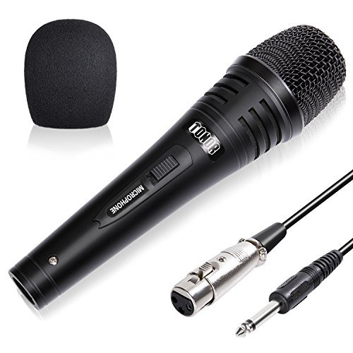 TONOR Pro Vocal Dynamic Microphone with XLR Cable Male-Female Wire Cord Mic Audio Connection for Stage Karaoke Singing Recording Speech Wedding Indoor Outdoor Activity
