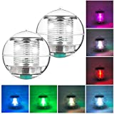 Uplord Solar-Powered Floating Lamp,Outdoor Solar Garden Stake Lights, 7 Color Changing,LED Floating Pool Lights Waterproof Globe Lamps for Garden Pool Patio Party Decoration (8X 8cm)