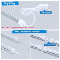8FT-LED-Shop-Light-90W-T8-Integrated-LED-Tube-10800LM-Super-Bright-5000K-Daylight-D-Shaped-Triple-Rows-LED-Linkable-Light-Fixture-8-Foot-with-Plug-for-Garage-Workshop-Depot-6-Pack