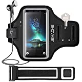 Galaxy S10/S9/S8 Armband, JEMACHE Gym Running Exercises Workouts Phone Arm Band for Samsung Galaxy S10/S9/S8/S7 Edge with Key/Card Holder (Black)