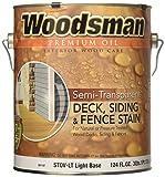 True Value STOVLT-GAL Woodsman Light Base Semi-Transparent Oil Deck and Siding Stain, 124 FL