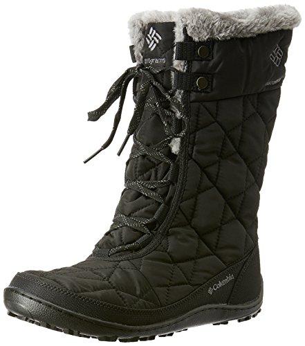 Columbia Women's Minx MID II Omni-Heat Snow Boot, Black, Charcoal, 10 B US