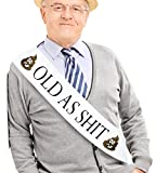 JPACO'Old AS SHlT' Sash - Perfect for Birthday Sash, Retirement Work & Party, Adult Novelty Gift for Men and Women