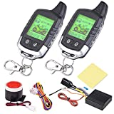 Yescom 2 Way Motorcycle Alarm 2 Big LCD Remote Engine Motorbike Start Anti-Theft Security System Scooter