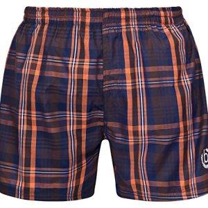 Bugatti®–Costume da bagno, da Uomo, in blu Marine/Verde o blu Marine/Arancione, A Quadretti