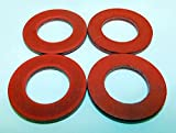 Four Pack Size #12 Fiber Meat Grinder Thrust Washer fits Hobart Auger Worm Gear and Others. Please Compare Measurements to Your Needs.