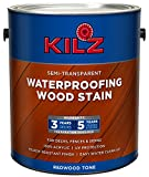 KILZ L832211 Exterior Waterproofing Wood Stain, Semi-Transparent, Redwood, 1-Gallon, 1 Gallon 4 l