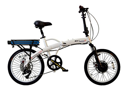 "ProdecoTech Mariner v5F 36V300W 1 Speed Electric Bicycle 10Ah Samsung Li Ion, Brushed Aluminum, 17"" / One Size"