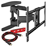 Heavy-Duty Full Motion TV Wall Mount - Articulating Swivel Bracket Fits Flat Screen Televisions from 42' to 70' (VESA 400 x 600 Compatible) - Tilt Swing Out Arm with 10' HDMI Cable