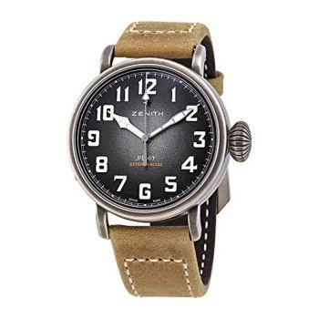 真力时Pilot Type 20 Automatic Gray Grained Dial Mens Watch 11.1940.6799 / 1c807