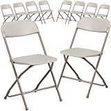 Product review for Flash Furniture 10 Pk. HERCULES Series 800 lb. Capacity Premium Beige Plastic Folding Chair
