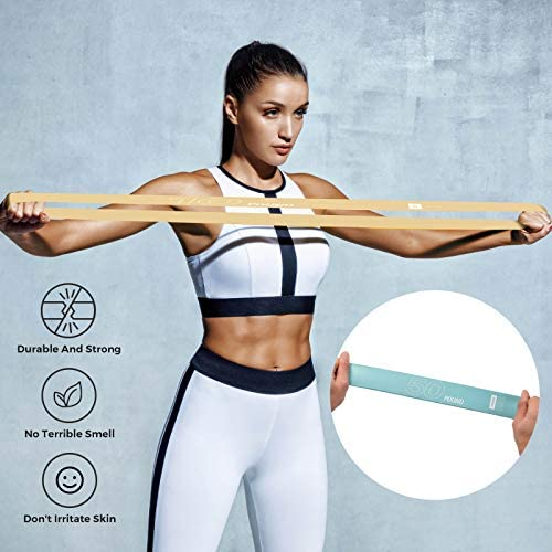 Resistance Loop Bands - Exercise Workout Booty Bands Set of 5 for Women, Bands for Working Out