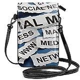 Social 1563073389041 8967 Small Cell Phone Purse Crossbody Cellphone Shoulder Bag Smartphone Wallet Purse