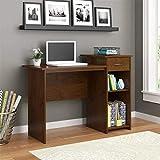 Mainstays Student Desk - Home Office Bedroom Furniture Indoor Desk - Easy Glide Accessory Drawer (Northfield Alder)