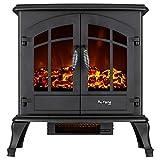 e-Flame USA Jasper Free Standing Electric Fireplace (Black)
