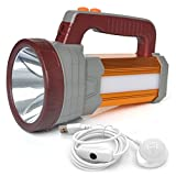 BIGSUN Super Bright LED Searchlight USB Rechargeable Outdoor Spotlight 15600 mAh 6000 Lumens Flashlight Portable Handheld Multi-function Camping Torch Light Long Shots Lamp USB Power Bank
