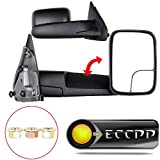 ECCPP Side Mirrors Replacement fit for 2003 2004 2005 2006 2007 2008 Dodge Ram 1500 2500 3500 Truck Black Manual Side View Mirror Pair Set Mirrors